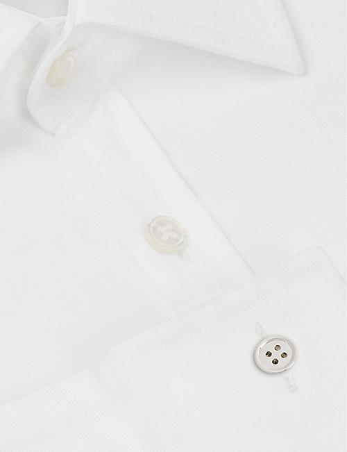 DEAKIN AND FRANCIS Button sterling silver cufflinks