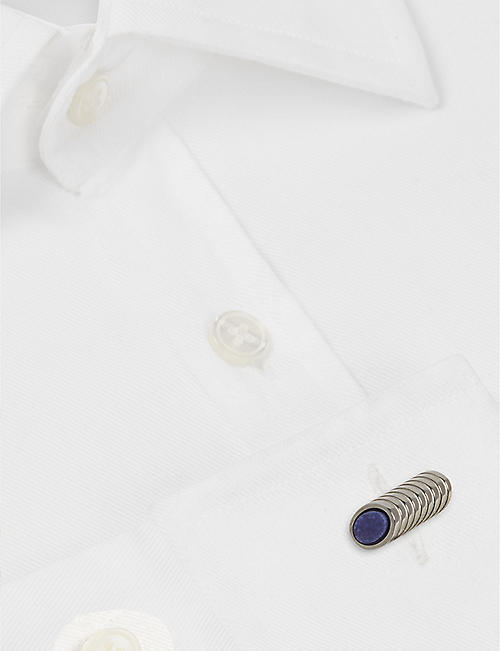 LANVIN Cylinder and stone cufflinks