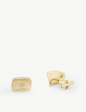LANVIN Abstract curve cufflinks