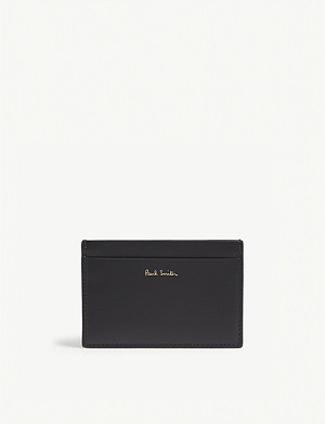 PAUL SMITH Camera print leather card holder