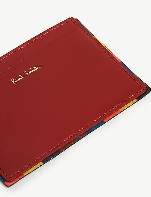 PAUL SMITH Artist striped leather card holder