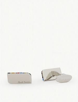 PAUL SMITH Striped edge cufflinks