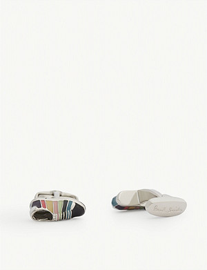 PAUL SMITH Striped trainer cufflinks