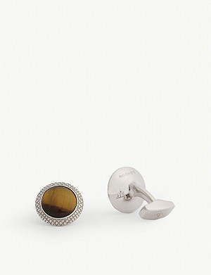 TATEOSSIAN Tiger Eye round cufflinks