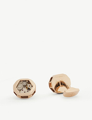 TATEOSSIAN Octagon gear cufflinks