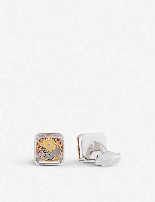 TATEOSSIAN: Square Gear cufflinks