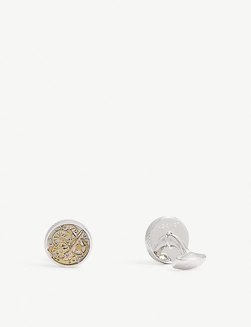 TATEOSSIAN: Industrial Watch sterling silver cufflinks