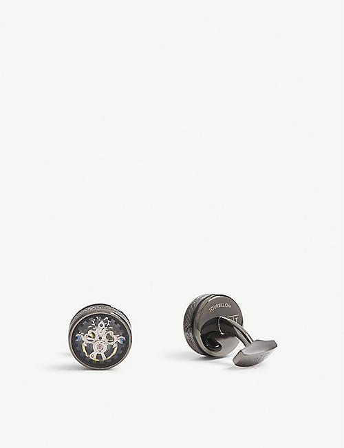 TATEOSSIAN: Tourbillion gear cufflinks
