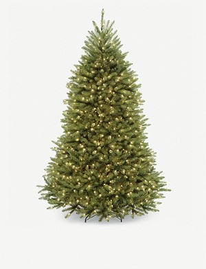 CHRISTMAS Prelit faux Christmas tree 7ft