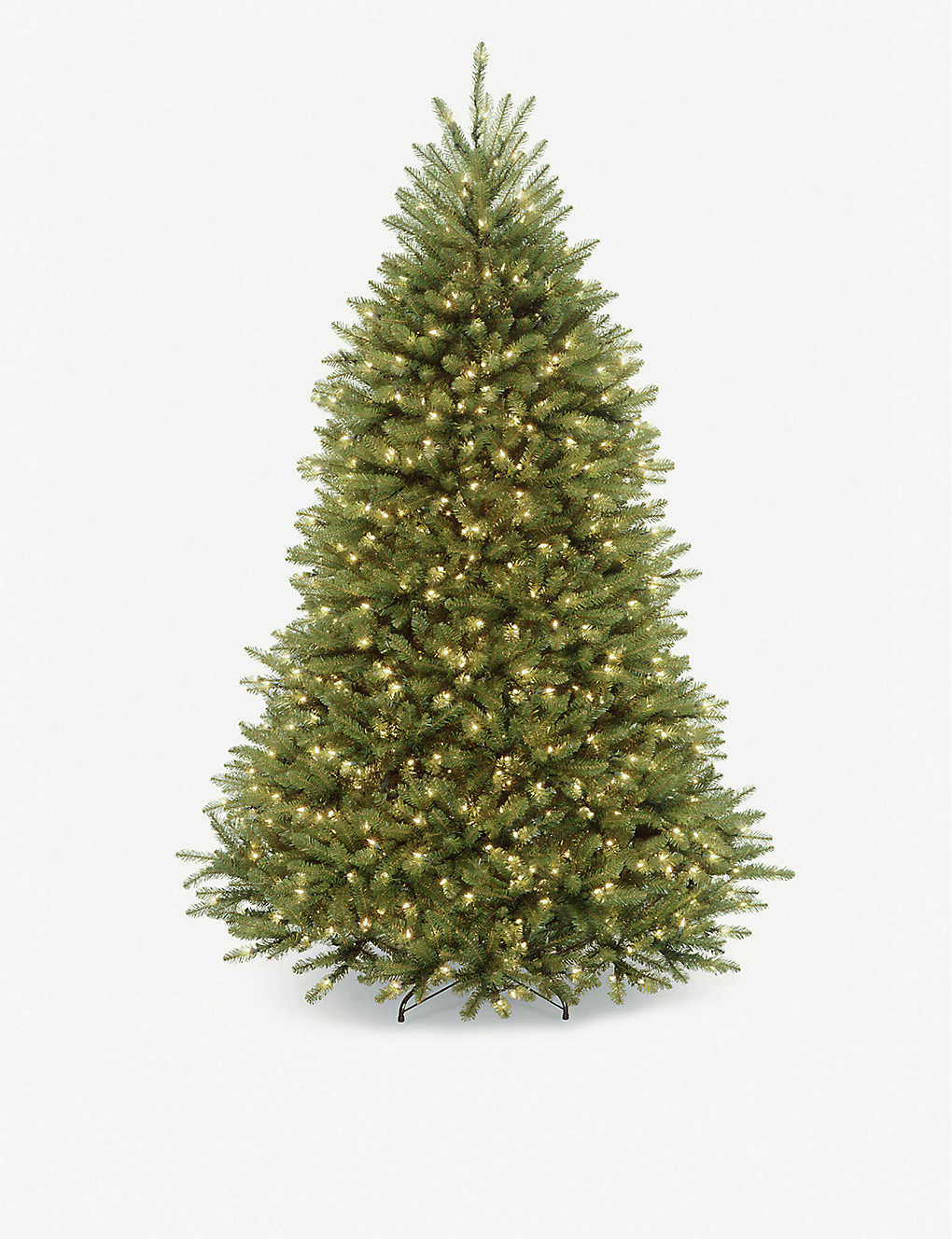 CHRISTMAS: Prelit faux Christmas tree 8ft