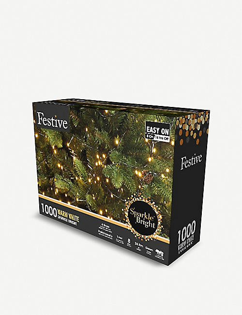 FESTIVE 1000 warm white LED string lights
