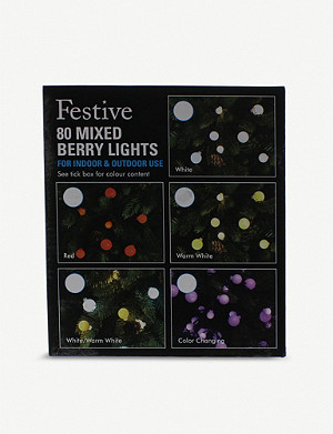 FESTIVE Mixed Berry 80 LED lights
