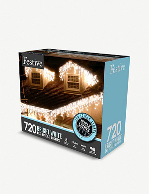 FESTIVE 720 LED snowing icicle lights