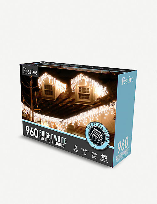 OUTDOOR LIGHTS 960 LED snowing icicle lights