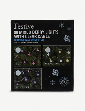 FESTIVE 80 colour change cherry LED lights