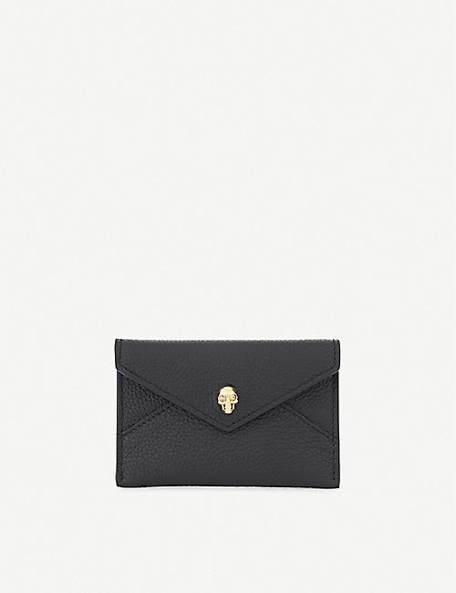 ALEXANDER MCQUEEN: Skull envelope card holder