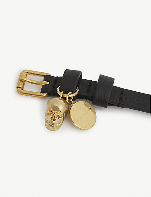 ALEXANDER MCQUEEN Skull double-wrap leather bracelet