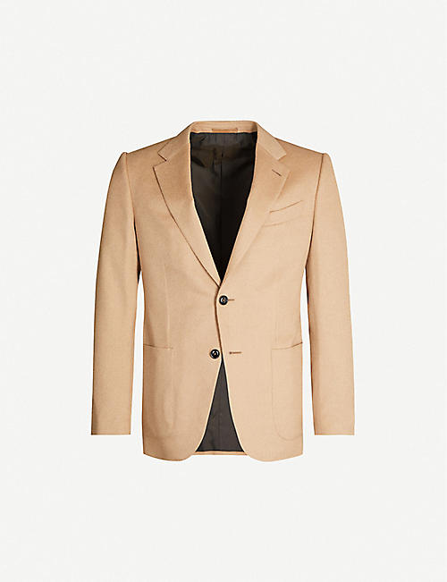 ERMENEGILDO ZEGNA Regular-fit camel hair blazer