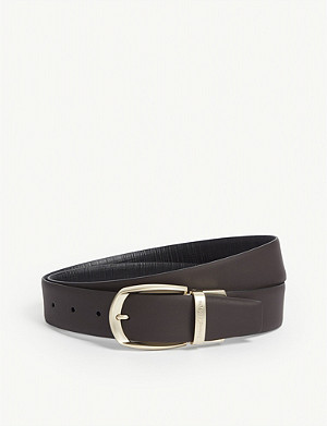ERMENEGILDO ZEGNA Textured leather belt