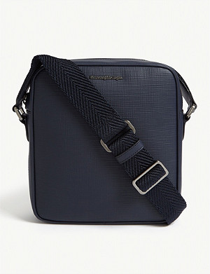ERMENEGILDO ZEGNA Leather reporter bag