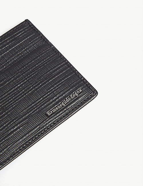 ERMENEGILDO ZEGNA Textured leather card holder