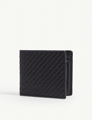 ERMENEGILDO ZEGNA Pelletessuta™ leather billfold wallet