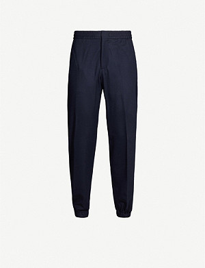 ERMENEGILDO ZEGNA Cuffed tapered wool trousers