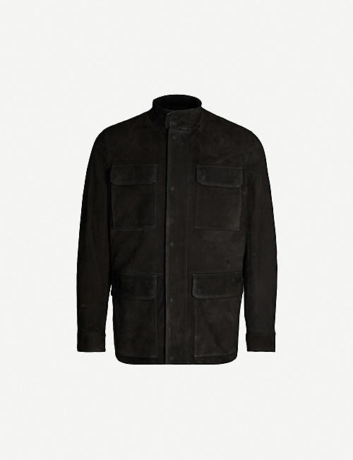 ERMENEGILDO ZEGNA Patch pocket suede jacket