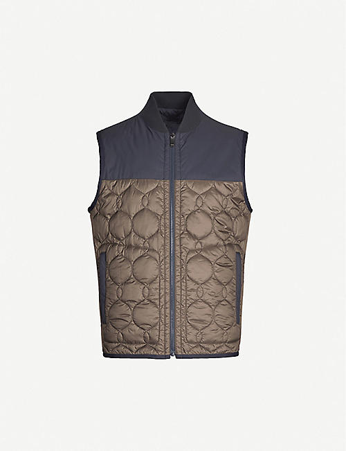 Z ZEGNA Two-tone quilted shell gilet
