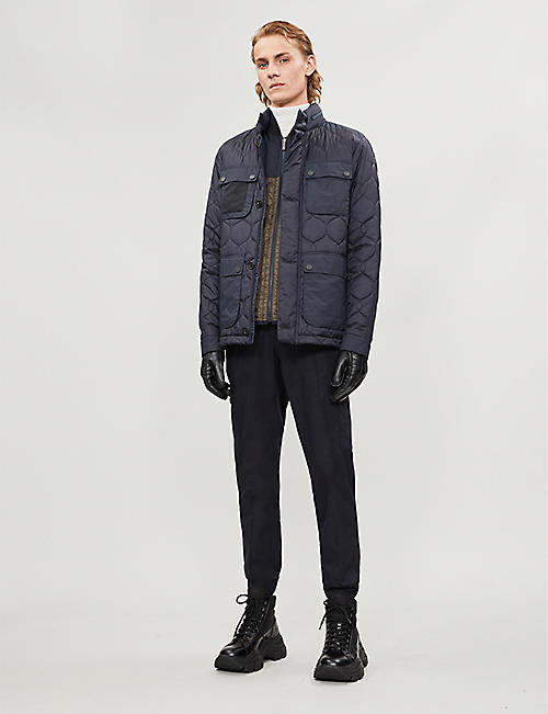 Z ZEGNA Quilted shell hooded jacket