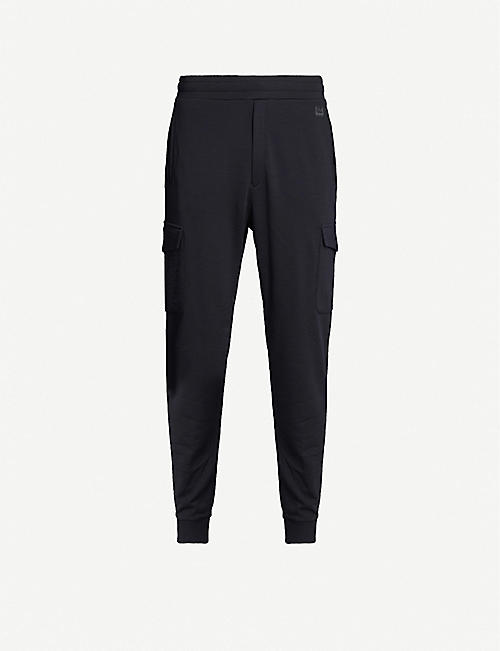 Z ZEGNA Logo-embroidered wool tapered jogging bottoms