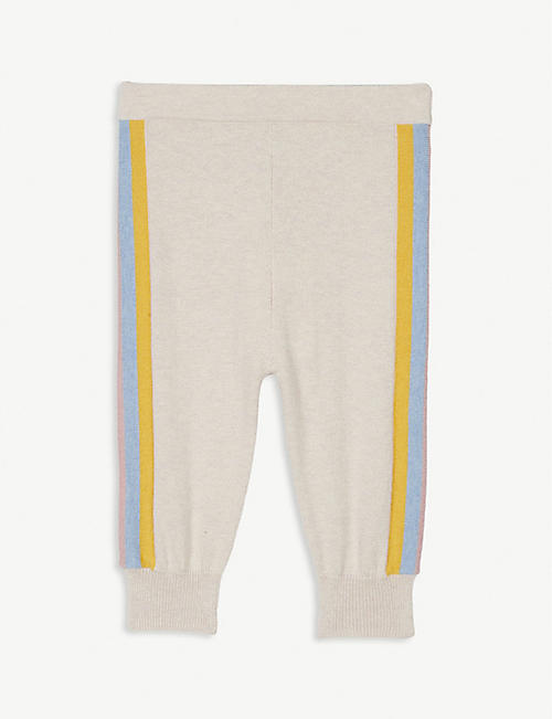 BONNIE MOB Blues side stripe cotton-blend knitted trousers 3-18 months