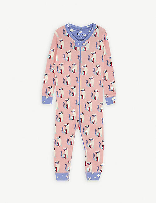 HATLEY Kitten cotton baby-grow 3-24 months