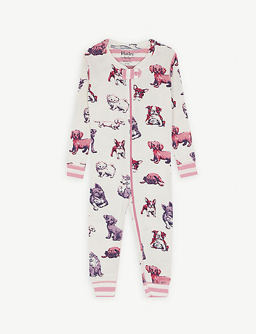 HATLEY Puppy cotton baby-grow 3-24 months