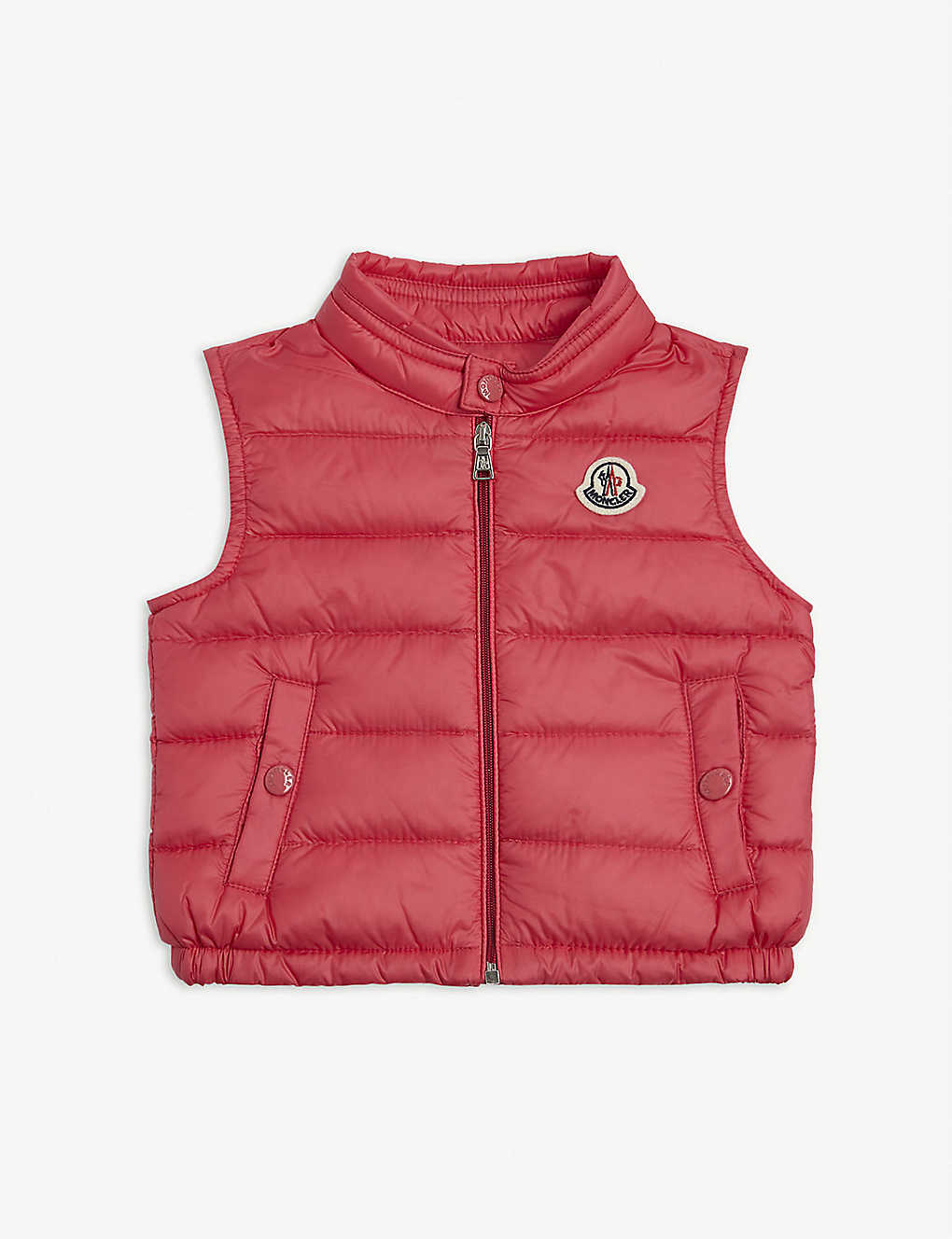 MONCLER: Amaury padded down gilet 3-36 months