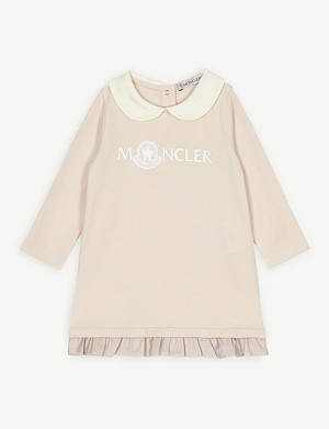 MONCLER Lace logo cotton dress 3-36 months