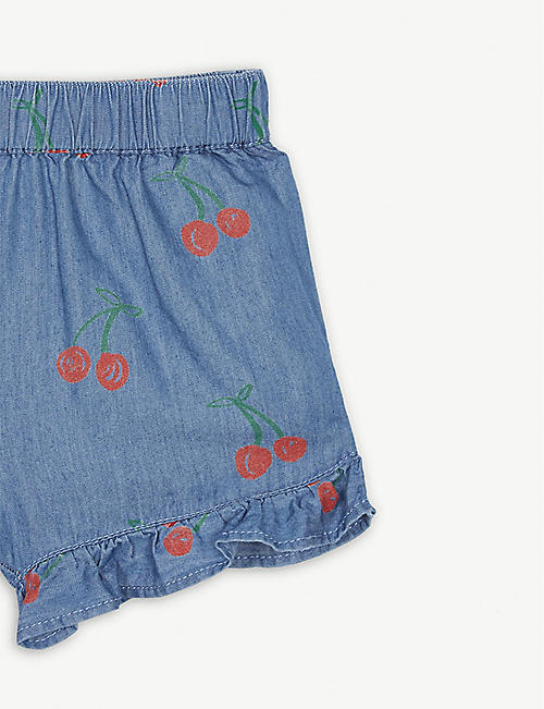 STELLA MCCARTNEY Cherry print denim shorts 2-14 years