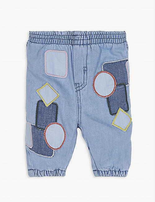 STELLA MCCARTNEY Patchwork cotton trousers 3-36 months