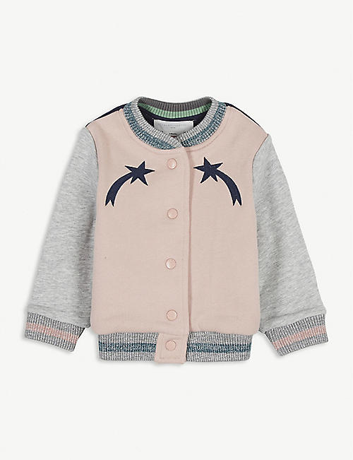 STELLA MCCARTNEY Star and mushroom varsity jacket 6-36 months
