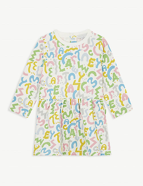 STELLA MCCARTNEY Block letter cotton dress 3-36 months