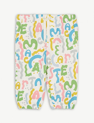 STELLA MCCARTNEY Logo print cotton-blend joggers 3-36 months