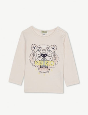 KENZO Tiger long-sleeve cotton T-shirt 6-36 months