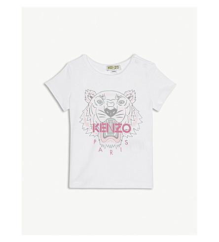 d314b588b KENZO - Tiger motif cotton-blend T-shirt 6-18 months   Selfridges.com