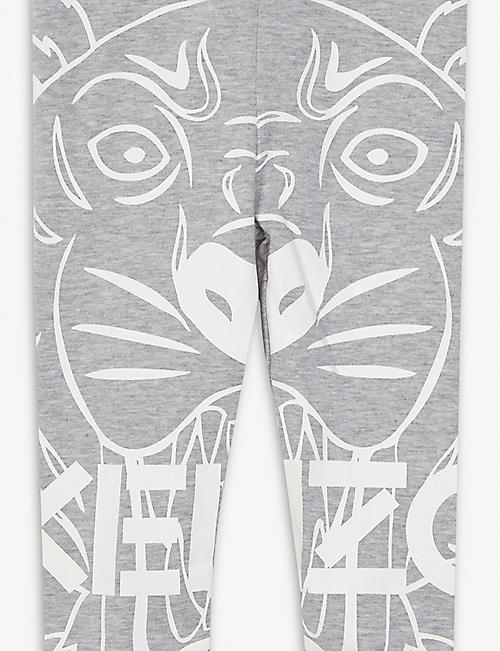 KENZO Tiger print cotton-blend leggings 6-18 months