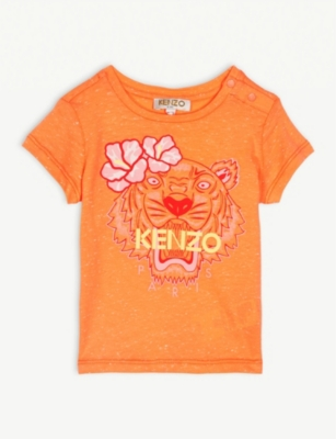 KENZO Tiger logo cotton T-shirt 3 months - 2 years
