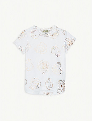 KENZO Tiger and friends cotton T-shirt 6-18 months