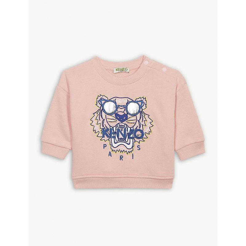 KENZO | Tiger Logo Cotton Sweatshirt 6-18 Months | Goxip