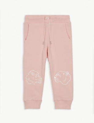 KENZO Tiger knee cotton-blend joggers 3-12 years