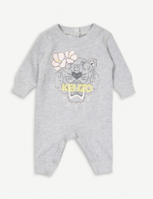KENZO Hawai long-sleeved organic-cotton baby-grow 1-18 months