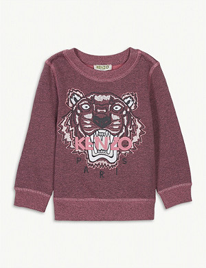 KENZO Icon tiger motif cotton sweatshirt 6-36 months